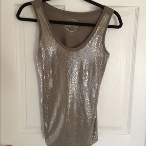 Sequined tank top by INC